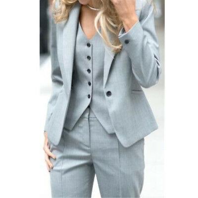 3 Piece (Jacket+Pant+Vest) Womens Suits Blazer with Pants Women .