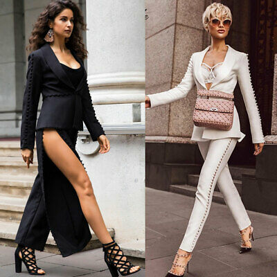 Sexy Pant Suits 2019 Formal White Black Womens Suit Pants and .
