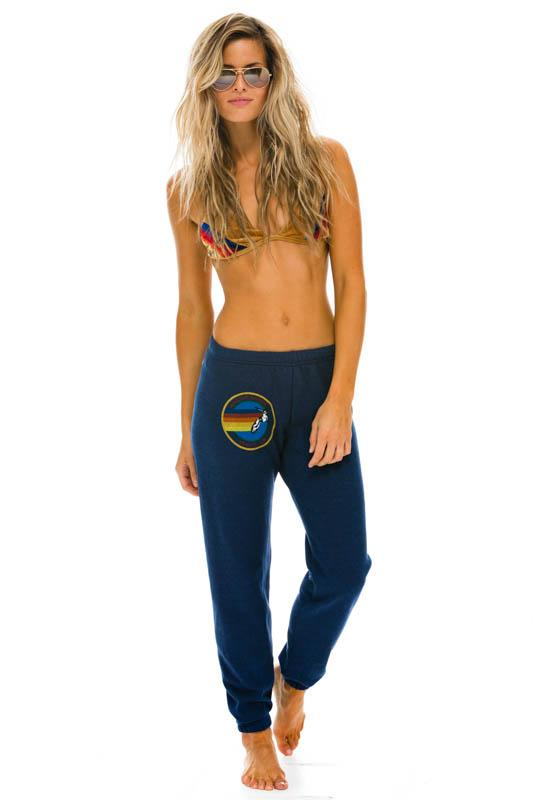 WOMEN'S AVIATOR NATION SWEATPANTS - NAVY - Aviator Nati