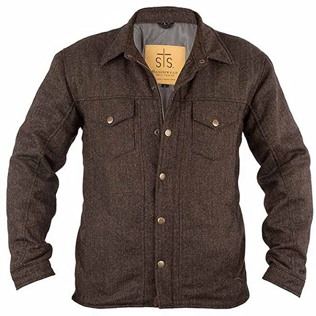 Amazon.com: STS Ranchwear Mens Chaparral Wool Jacket Chocolate .