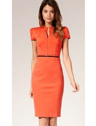 Work dress, I'd like it if it was a different color. | Orange work .