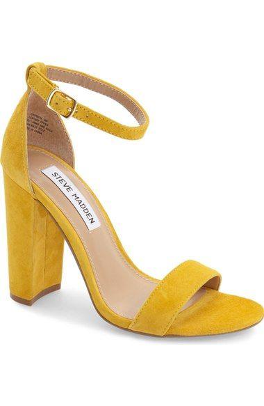 Steve Madden Carrson Sandal (Women | Chunky heel shoes, Heels .