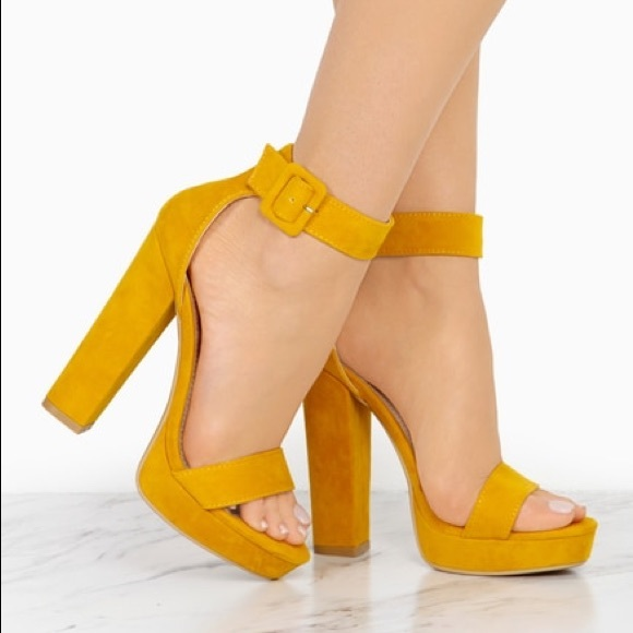 Shoes | Size 6 And 8 Left Yellow Platform Heels | Poshma