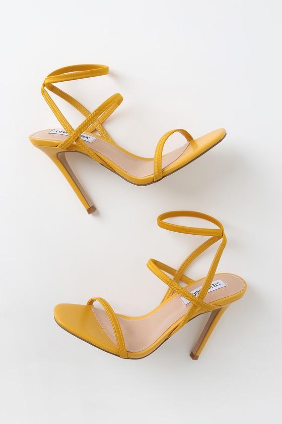 Steve Madden Nectur - Yellow High Heel Sandals - Vegan hee