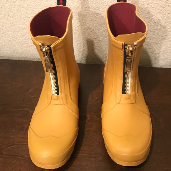 Tommy Hilfiger Shoes | Short Yellow Rain Boots | Poshma