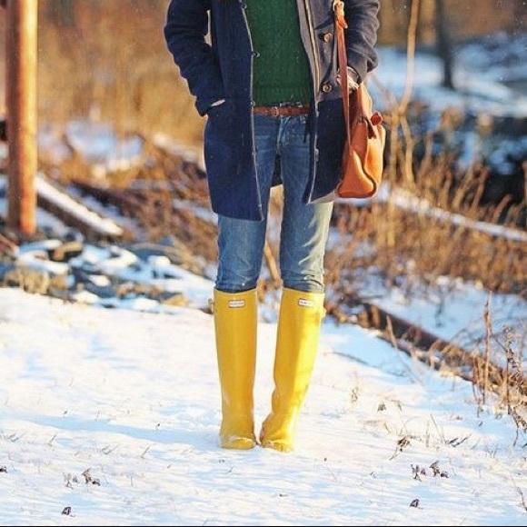 Hunter Shoes | Nwot Yellow Rain Boots | Poshma