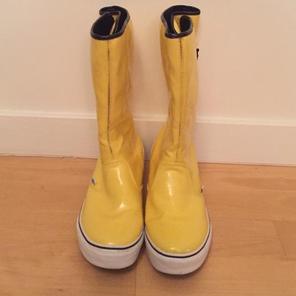 Vans Shoes | Yellow Rain Boots | Poshma