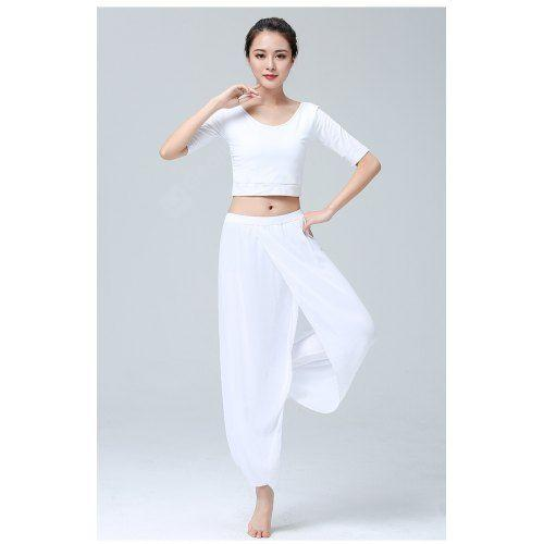Yoga Clothes Suit Ladies Fashion Modal Chiffon Workout Clothes .