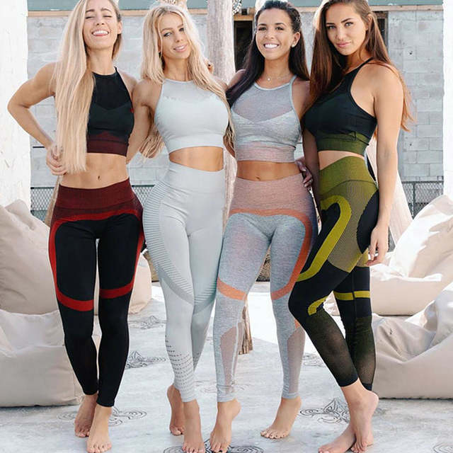 Online Shop Seamless Sportswear Women 2019 Yoga Set Sports Fitness .